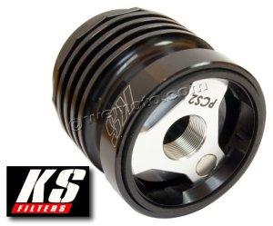 KS Reusable Oil Filter in Black