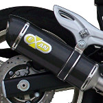Exan Carbon Cap Oval Carbon Fibre Silencer