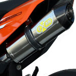 Exan Carbon Cap Oval Steel Silencer
