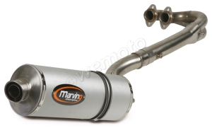 Marving 'Quad' Silencer in aluminium sleeve