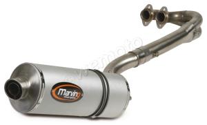 Marving 'Quad' Silencer in aluminium sleeve