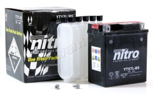 A range of Nitro batteries are available at Wemoto