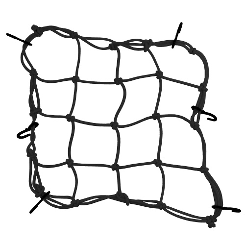 cargo net motorcycle black